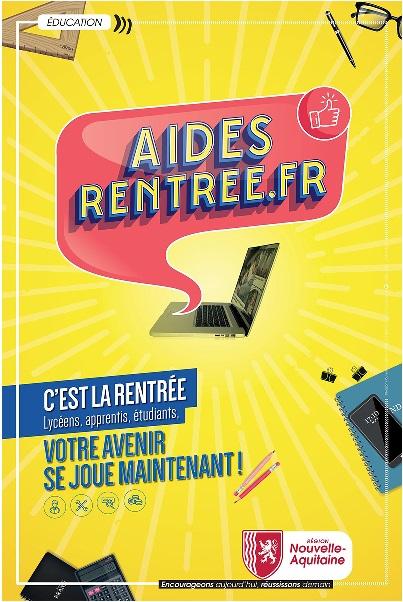 Aides Région Nouvelle-Aquitaine pour Lycéens-Apprentis Rentrée Scolaire 2019-2020